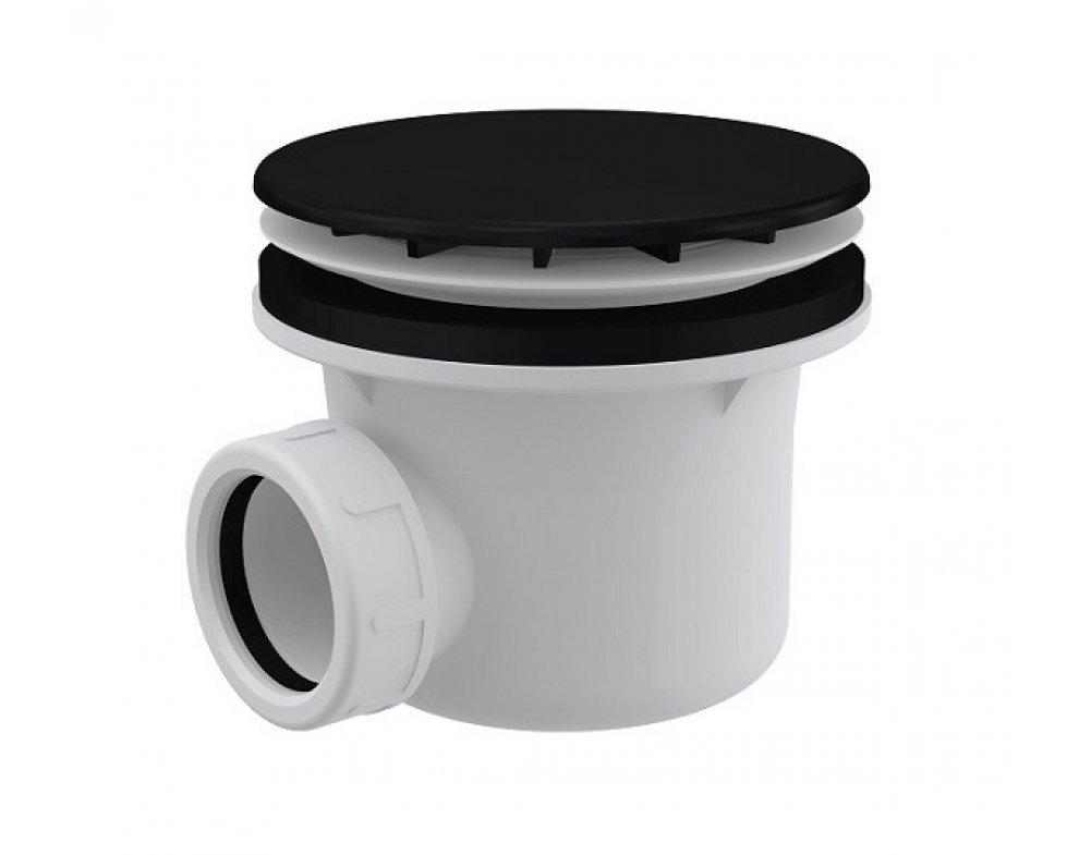 Sifón vaničkový, prietok 43l/min., d90mm, DN40, čierna matná
