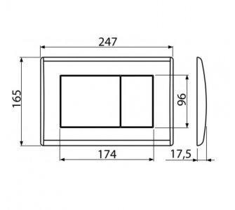 Ovládacie tlačidlo pre predstenové inštalačné systémy, čierna matná