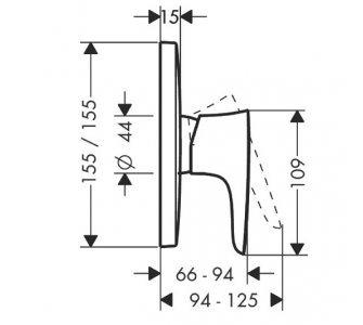 batéria sprchová podomietková, pre 1 odberné miesto, PURAVIDA, biela/chróm