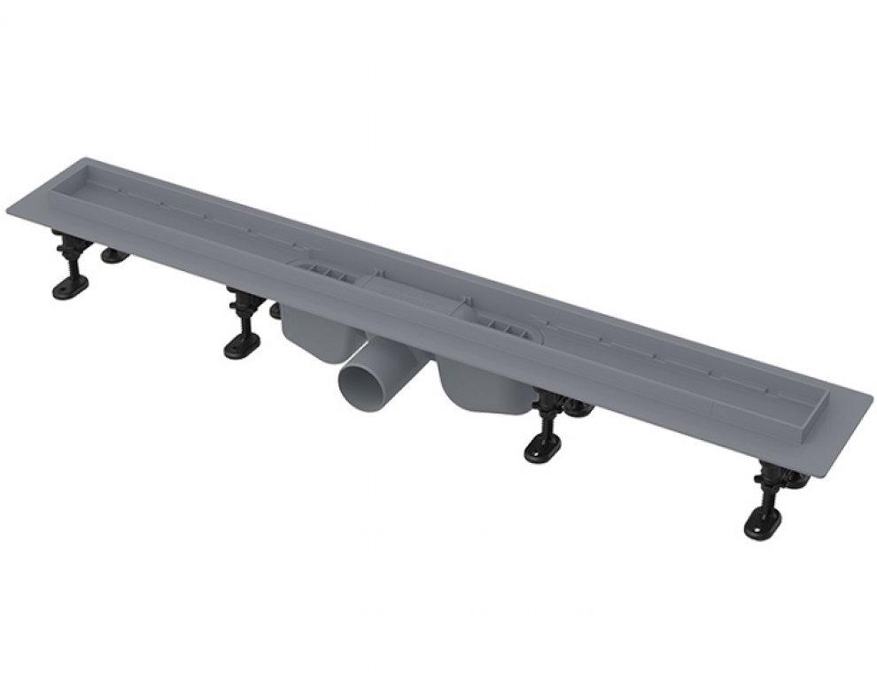 Optimal – Podlahový žlab s okrajom pre perforovaný rošt alebo vloženie dlažby