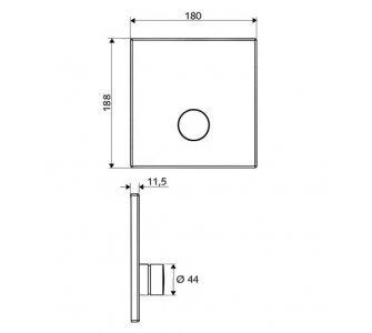 batéria podomietková sprchová, D-SC-V, chróm