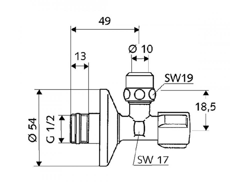 SCHELL COMFORT Rohový regulační ventil