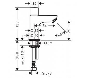 Stojánkový ventil, chrom Logis