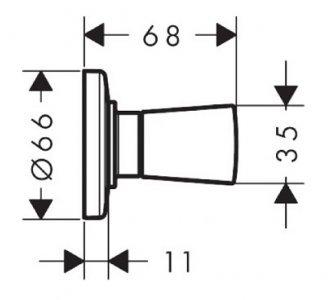 Uzavírací ventil pod omítku, chrom Logis