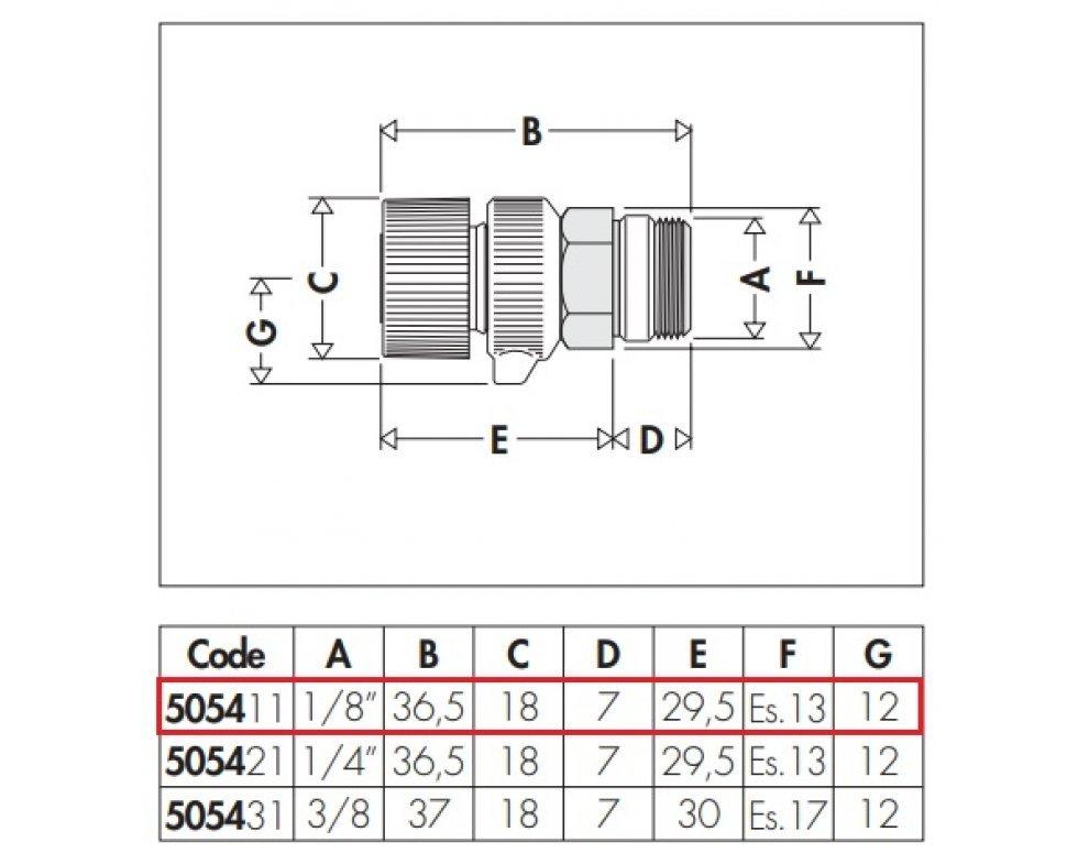 """Ručný odvzdušňovací ventil pre radiátory, 1/8"""" M"""