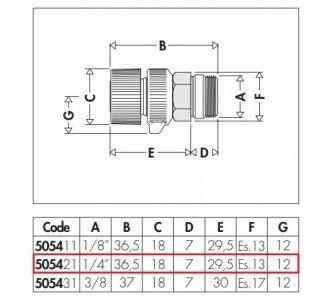 """Ručný odvzdušňovací ventil pre radiátory, 1/4"""" M"""