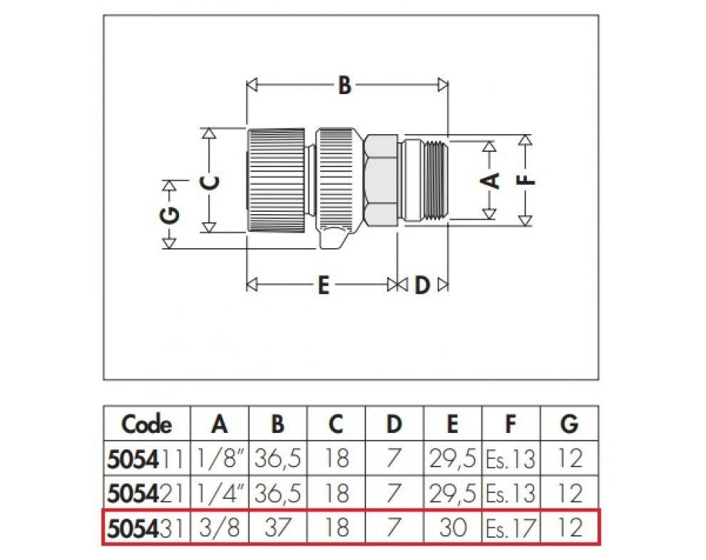 """Ručný odvzdušňovací ventil pre radiátory, 3/8"""" M"""