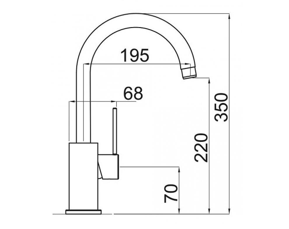 SET drez granit Sinks LINEA 780 N Milk + batéria stojanková VITALIA GR