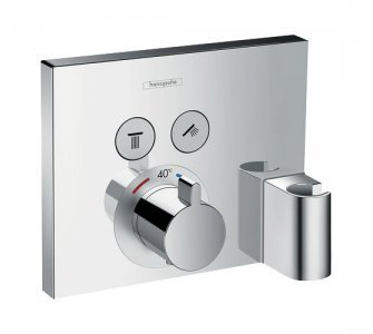 batéria sprchová podomietková termostatická pre 2 odberné miesta, s držiakom ručnej sprchy, SHOWER SELECT