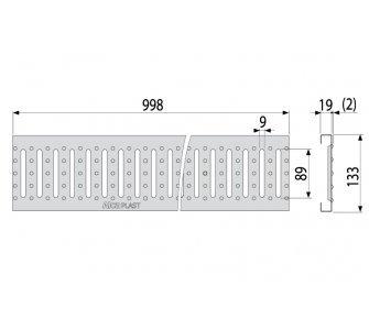 Rošt pre vonkajší žlab AVZ102 pozink