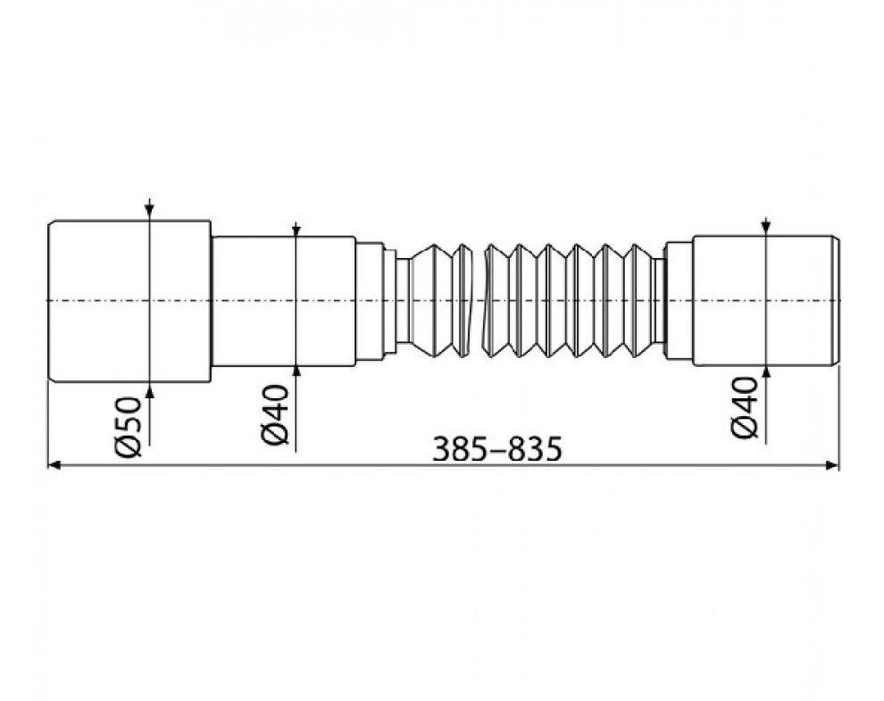 Flexi pripojenie 50/40×40
