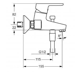 páková vaňová batéria so sprchovou súpravou HANSAPRIMO