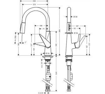 drezová batéria Talis S, 200