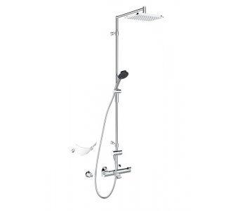 Sprchový systém s termostatickou batériou a mydelničkou, HANSAFIT, chróm