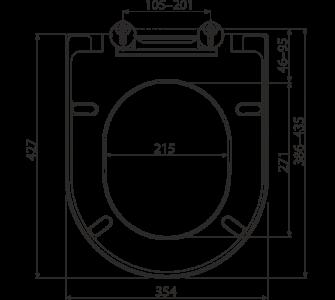WC sedátko SOFTCLOSE, Duroplast
