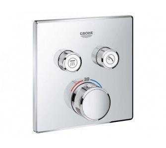 batéria sprchová podomietková termostatická s dvoma ventilmi, chróm, Grohtherm Smart Control