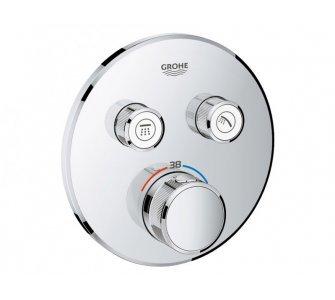 Batéria sprchová podomietková termostatická, s dvoma ventilmi, GROHTHERM SMARTCONTROL, chróm