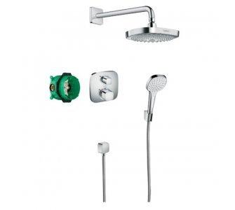 Croma Select E,Designová sprchová súprava Ecostat E,chróm