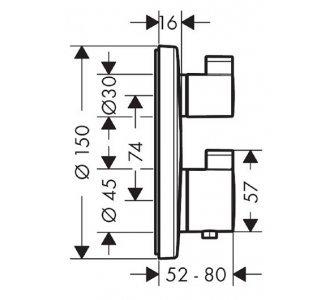batéria sprchová podomietková termostatická pre 2 odberné miesta, Ecostat S