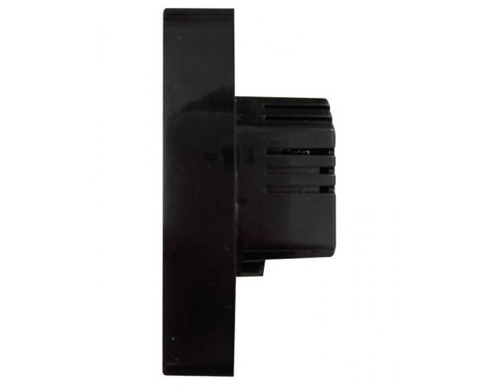 digitálny termostat s dotykovým displejom, čierny