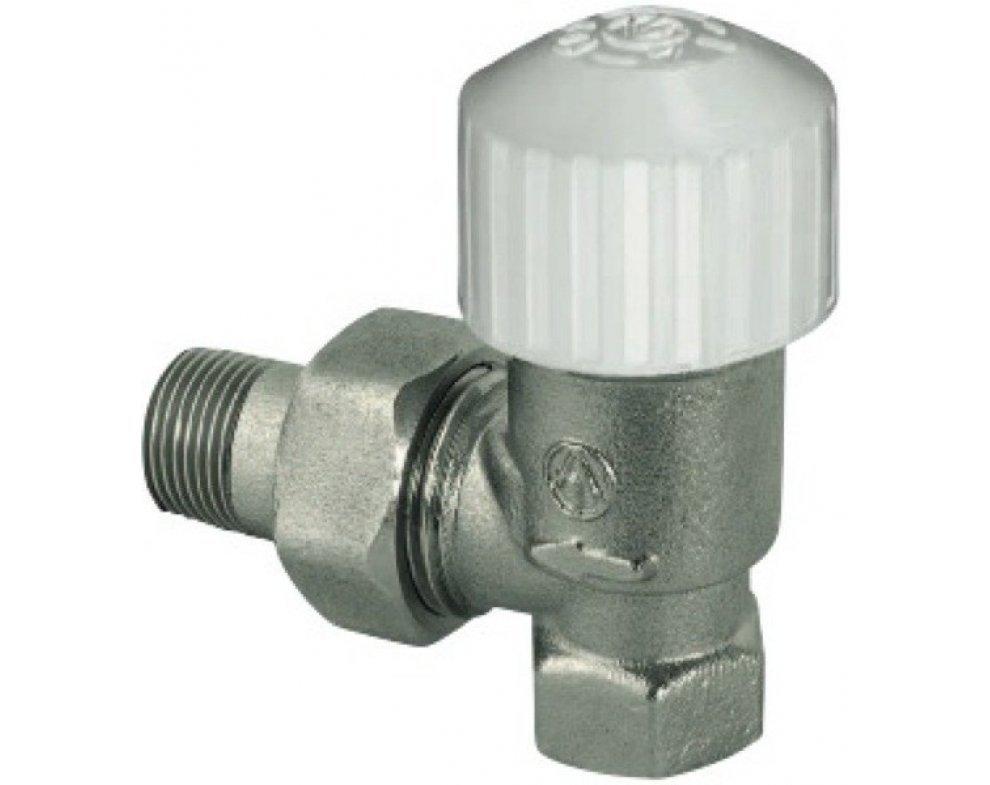 termostatický radiátorový ventil, rohový 1/2