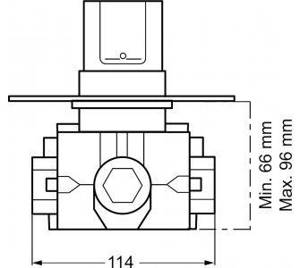 Batéria s termostatom, DN 20,podomietkové teleso  a súprava na konečnú montáž, HANSATHERM