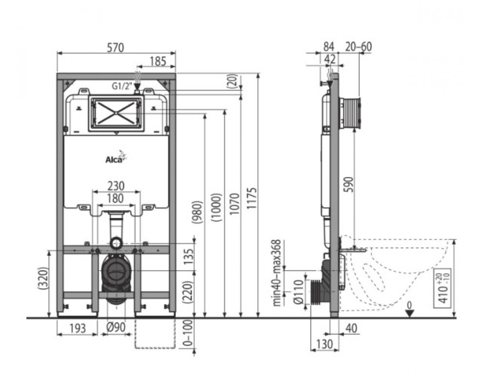 SÁDROMODUL SLIM®  Predstenový inštalačný systém pre suchú inštaláciu (do sádrokartónu)