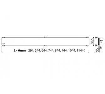 GLASS – Rošt pro liniový podlahový žlab (sklo biele)