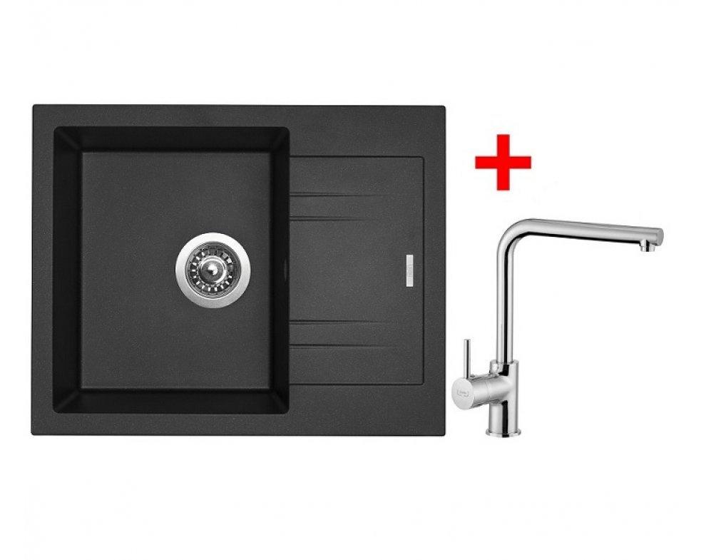 SET granit Sinks LINEA 600 N Metalblack+ELKA
