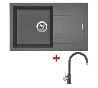 SET granit Sinks LINEA 780 N Titanium+VITALIA GR