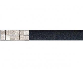 Rošt na nalepenie dlažby pre líniový podlahový žlab, 650mm, FLOOR, nerez