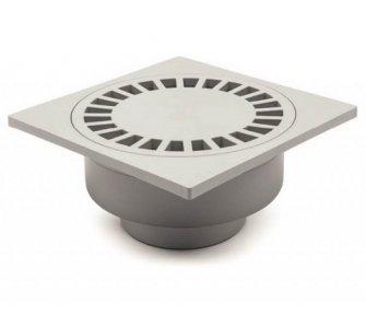 Podlahová vpusť 250x250 mm, spodná, plast, DN75/110
