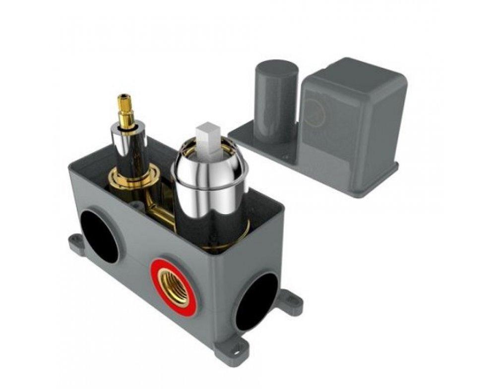 batéria sprchová podomietková pre 2 odberné miesta, s AQ-boxom a s keramickým prepínačom, CINQUE