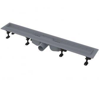 Podlahový žlab s okrajom pre perforovaný rošt alebo vloženie dlažby, 850mm, OPTIMAL