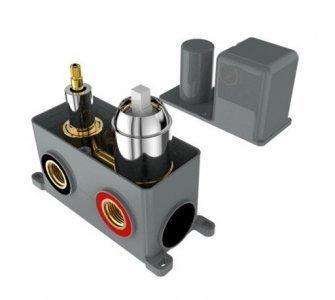 batéria sprchová podomietková pre 3 odberné miesta, s AQ-boxom a s keramickým prepínačom, CINQUE