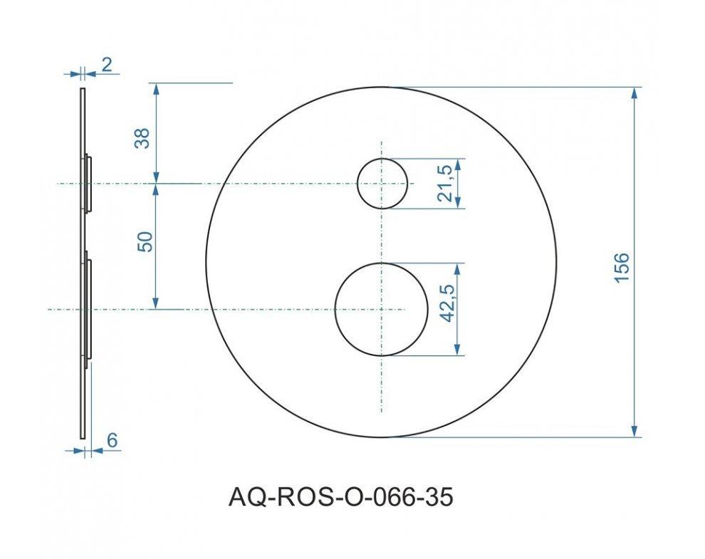 batéria AQS sprchová podomietková pre 2 odberné miesta, s AQ-boxom, LAGUNA