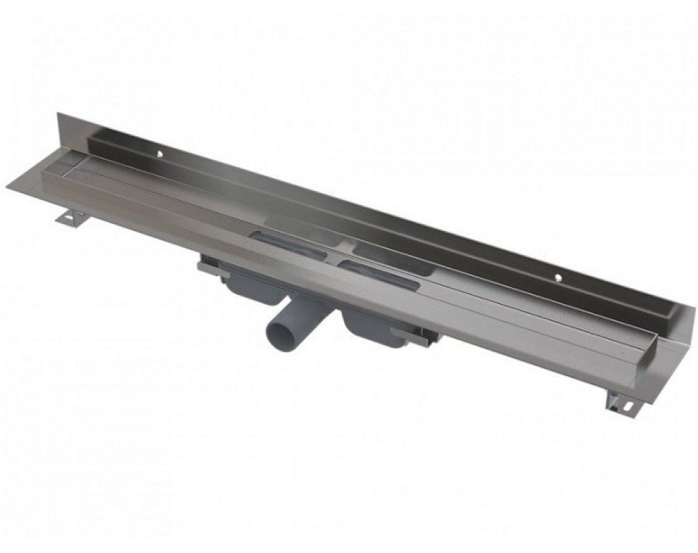 Wall Low - Podlahový žľab s okrajom pre plný rošt a s pevným límcom ku stene 850mm
