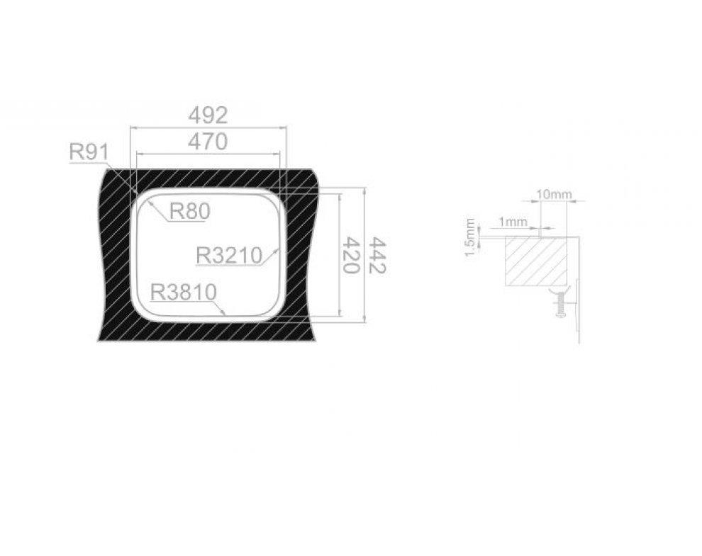 Drez nerezový Sinks LAGUNA 490 V 0,8mm trojmontáž leštený