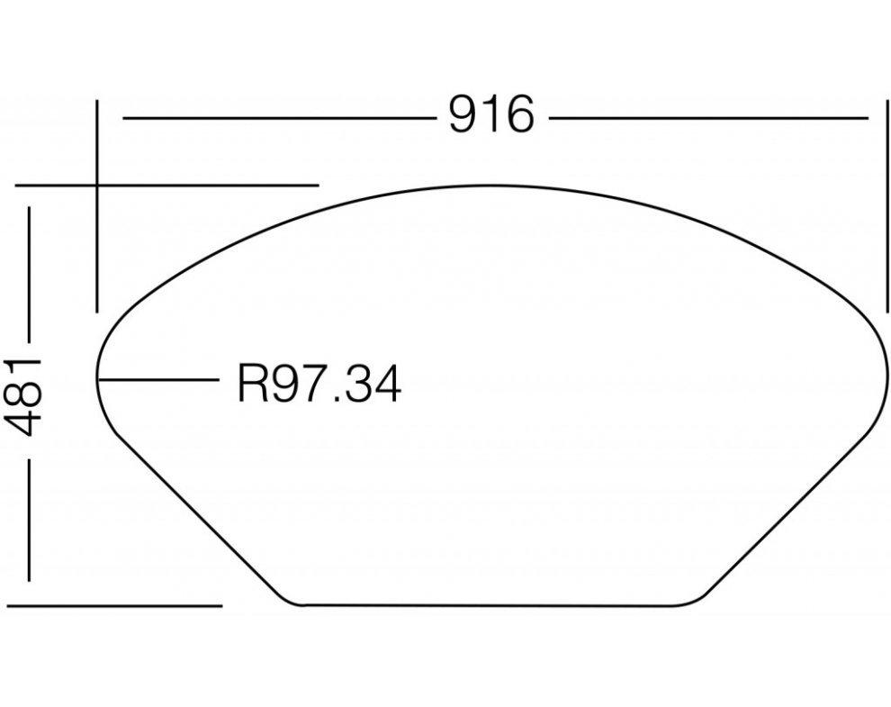 Drez nerezový Sinks LOTUS 945.1 V 0,8mm leštený