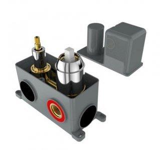 batéria sprchová podomietková pre 2 odberné miesta, s AQ-boxom a s keramickým prepínačom, MARINA