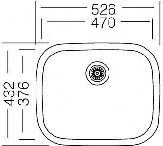 Drez nerezový Sinks NEPTUN 526 V 0,6mm matný