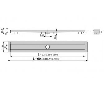 Modular - Podlahový žľab 850mm
