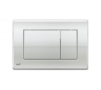 Ovládacie tlačítko pre predstenové inštalačné systémy, chróm-lesk