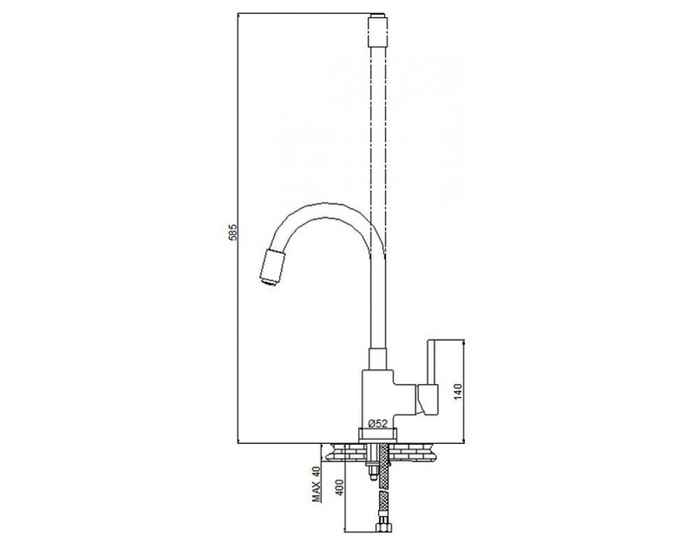 batéria drezová stojanková s farebným flexibilným ramenom, YOUNG WHITE