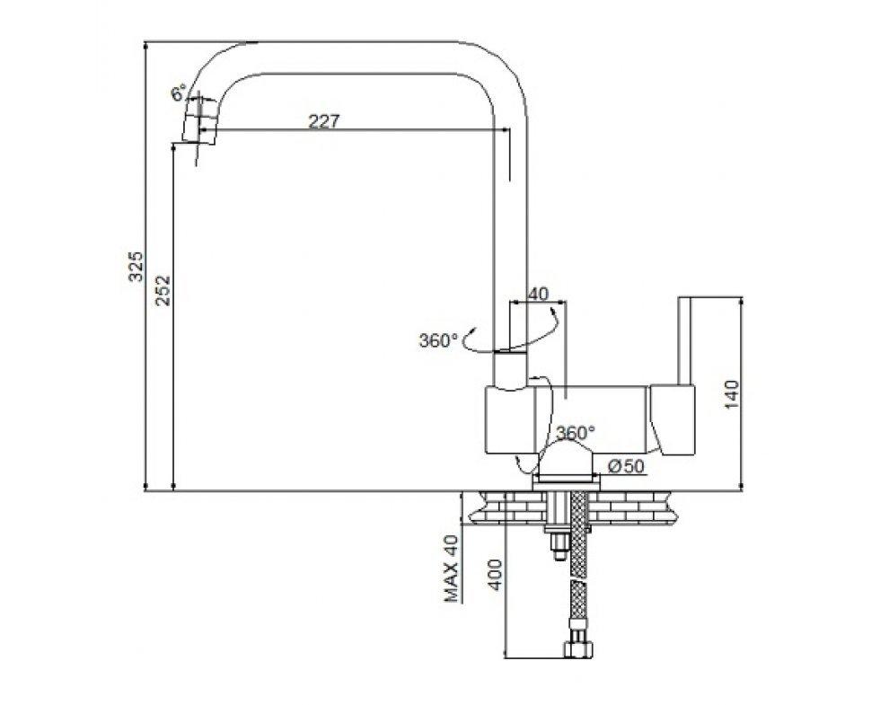 batéria drezová stojanková sklápateľná, UP-DOWN