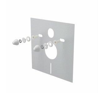 Izolačná doska pre závesné WC a bidet s príslušenstvom a krytkou, biela