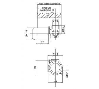 Základné podomietkové teleso pre batérie PROJECT, FRESH, INFINITY