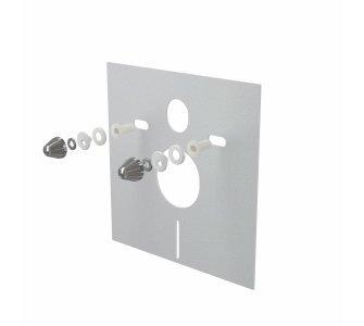 Izolačná doska pre závesné WC a bidet s príslušenstvom a krytkou, chróm