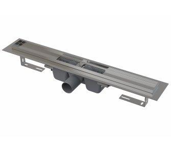 Podlahový žľab s okrajom pre perforovaný rošt, dĺžka 750mm