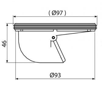 Suchá zápachová uzávera pre APV26,APV26C
